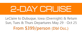 Thursday, May 29 • 2-Day Cruise